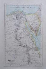 Karte aus 1889 - Ägypten - alte Landkarte old map