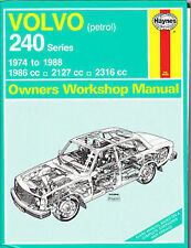VOLVO 240 USED HAYNES MANUAL 1974 to 1988 PETROL REF 270