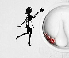 Wall Stickers Vinyl Decal Housekeeper Cleaning Home Hostess Woman (ig728)