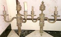 Ancienne paire d' applique murale empire napoleon III bronze doré XIXeme torche