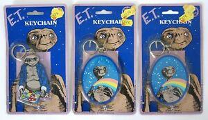 3 x Vintage ET Keyring Original Packaging 1982 (Two Designs)