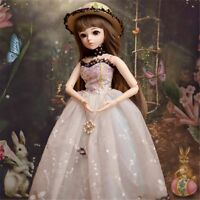 1/3 BJD Doll Puppe Girl Dolls Body with Face Makeup Wig Clothes Shoes Toys Gift