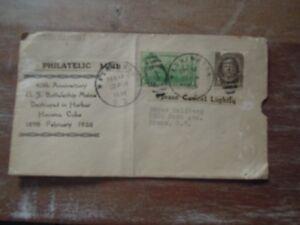 Commemorative  40th Anniversary  US Battleship Maine Philatelic Mail (1938)