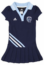 Adidas MLS Toddler Girls Sporting Kansas City Polo Dress, Maroon