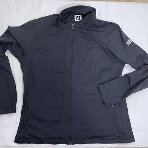FOOTJOY FJ  Women's XL Nylon Spandex  Desert Mountain Full Zip Jacket Black