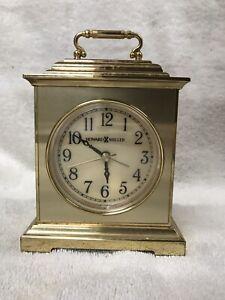 Howard Miller Quartz Desk Clock with Alarm
