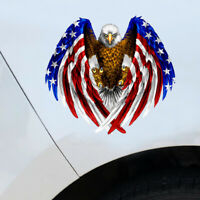 Bald Eagle USA American Flag Sticker Car Truck Laptop Window Bumper Decor Decal