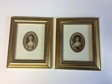 MINIATURE FIGURATIVE FRAMED PORTRAITS OF TWO LADIES