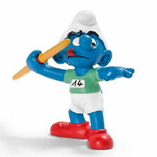 SCHLEICH SMURFS OLYMPIC SPORTS - 20744 - Javelin Thrower Smurf Figure- Retired