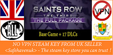 Saints Row: The Third - The Full Package (inc.17DLC)  Steam key NO VPN UKseller