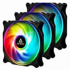 Antec 120mm RGB fan, 4 pin RGB, F12 Series,RGB High Performance PC Fan 3 Packs