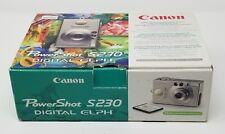 Canon PowerShot ELPH S230 3.2MP Digital Camera Bundle W/ Box - Ships FREE