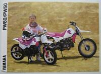 YAMAHA PW50/PW80 Motorcycle Sales Leaflet 1991 UK MARKET #LIT-3MC-0107018-91E