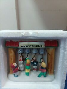 Lemax merry  Christmas Square  Porcelain  hand painted 1993