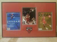"Framed Michael Jordan ""Returns"" Autographed 8x10 Photo UDA"