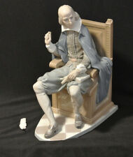"""Lladro """"Shakespeare"""" #1338 Figurine: Almost Mint / No Box - SIgned and Very Rare"""