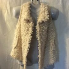 Mossim Cozy Warm Open Front VEST Layering Cover Up Loopy Knit Sweater