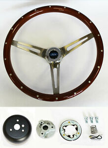 78-91 Ford Bronco F100 F150 F250 F350 Wood Steering Wheel Rivets High Gloss 15""
