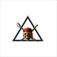Pirate Skull Jolly Roger Boat Corsair Laptop Car Bumper Vinyl Sticker Decal