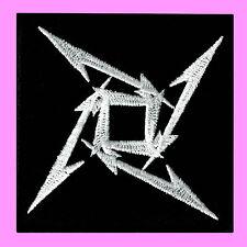 Metallica Logo Star Ninja Heavy Metal Rock Music Band Embroidered Iron On Patch