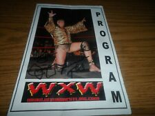 Jimmy Superfly Snuka Jimmy Hart + 1 Autographed/Signed Wxw Wrestling Program