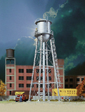 Walthers # 3833 Vintage Water Tower Assembled - Silver  N Scale  MIB