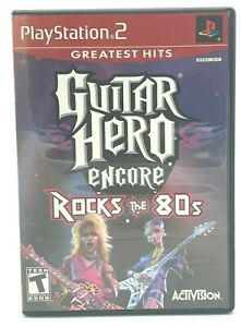 Guitar Hero Encore: Rocks the 80s (Sony PlayStation 2, PS2 2007) Complete CIB