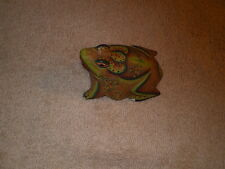 Beautifully Painted & Detailed Wood Frog, Unsigned, Too Bad!