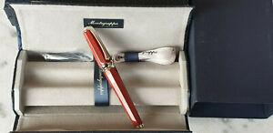 Montegrappa piccola stylo plume rouge neuf de stock fountain pen penna grafica f
