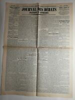 N268 La Une Du Journal journal des débats 11 novembre 1923 politiques littéraire