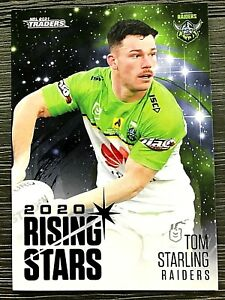 2021 NRL TRADERS '2020 RISING STARS' TRADING CARD - TOM STARLING/RAIDERS