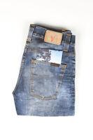31944 Nudie Jeans Grim Tim Used Black Coated Bleu Hommes Jean Taille 29/32