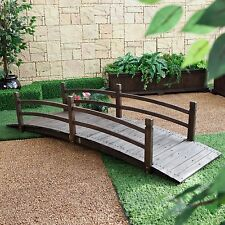 Dark Brown 8 Foot Garden Bridge Outdoor Furniture Decor Structure Home Backyard