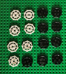 LEGO Ring weiß schwarz Plate Modified 2x2 Bar Frame Octagonal 16 St. 30033 (32)