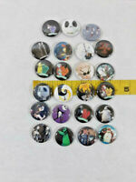 """Lot of 23 Nightmare Before Christmas 1"""" Button Pins Tim Burton ~ Ships FREE"""