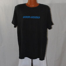 Under Armor Mens Size 2XL Charged Heat Gear Loose Fit Tee Shirt Black Blue Fish