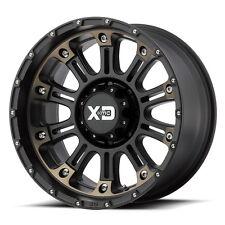 17 Inch Satin Black Wheels Rims XD Series Hoss 2 XD829 Jeep Wrangler JK SINGLE