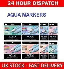 Spectrum Noir Aqua Twin Tip Brush & Fine Nib Water Based 12/6pk Marker Pen Sets