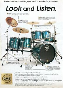 1996 Print Ad of Paiste GMS Grand Master Series Drum Kit Turquoise Sparkle