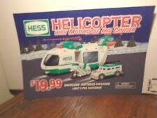 "2001 HESS HELICOPTER SERVICE GAS STATION POSTER 19"" X 14"" VERY GOOD CONDITION A+"