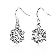 18K White Gold Plated Earring Made with Swarovski Crystals