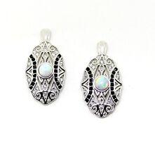 Feine Ohrstecker 925 Silber Opal Art Deco Form