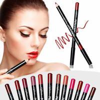 12pcs Cosmétique Stylo Crayon à Lèvres Liner Rouge Contour Lip Stick Maquillage