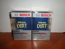 Lot of 2 Bosch D3421 Distance Plus High Performance Oil Filters