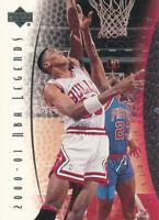 Scottie Pippen 2000-01 Upper Deck NBA Legends #53 Chicago Bulls basketball card