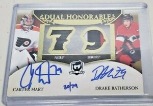 2019-20 The Cup Honorables Numbers Patch Auto Carter Hart Drake Batherson 30/79