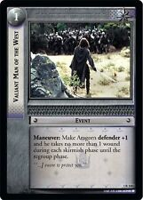 LoTR TCG FoTR Fellowship Of The Ring Valiant Men Of The West FOIL 1R118
