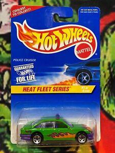 Hot Wheels 1996 Heat Fleet Series Police Cruiser Green VN Commodore USA Card