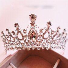 Hermoso Plata Tiaras Estrás Cabello de Novia Accesorios Boda Concurso Belleza
