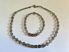 Genuine! Cut Faceted Natural Smoky Quartz Crystal Beads Necklace & Bracelet